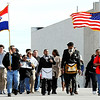 J-Mag/T. Rob Brown<br /> Locals and members of the Myrtle Lodge No. 149 participate in a parade honoring the legacy of Martin Luther King Jr. Monday afternoon, Jan. 16, 2012, on Third Street in downtown Joplin. The parade, in honor of the civil rights leader, started at the intersection of Langston Hughes-Broadway and St. Louis Avenue and continued on to the Joplin Public Library.