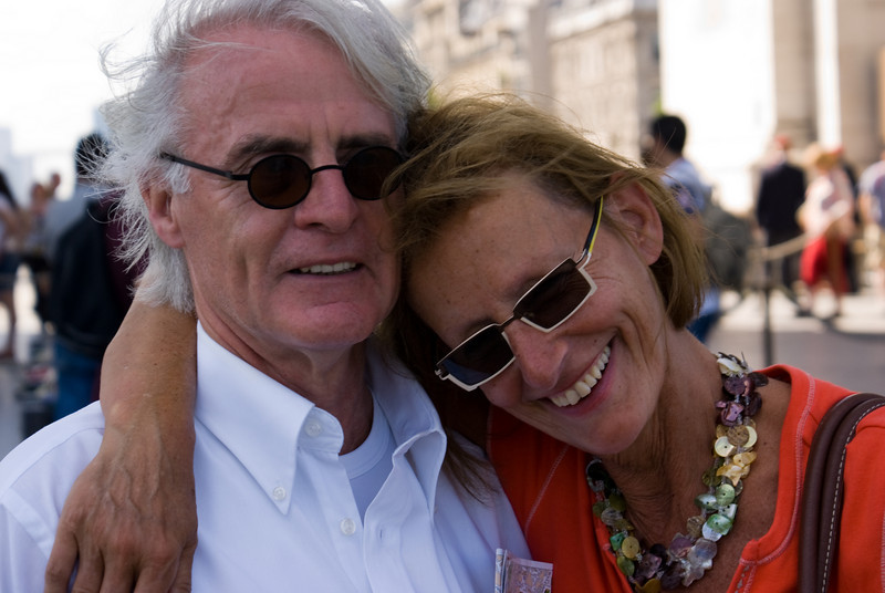 My mom and dad at the Arc de Triomphe, Paris, France.