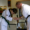 Jake's Green/Black Stripe Belt Test - November 2008