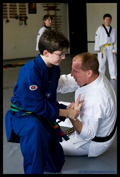 Jake's Blue/Black Stripe Belt Test