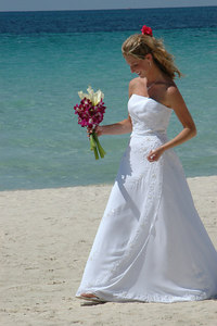 A beautiful Bride by the seashore