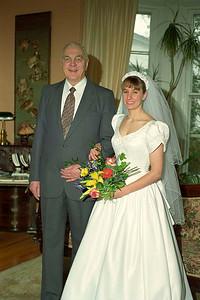 Godfather Jim Smythe and Ruth Hudson, Sackville, New Brunswick, 2 March 1998 ...... her wedding day