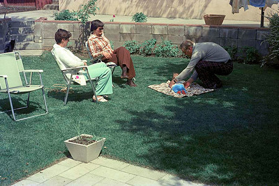 Jean Smythe, Vivienne Hudson Ruth Hudson and Jim Smythe, Calgary : summer 1977