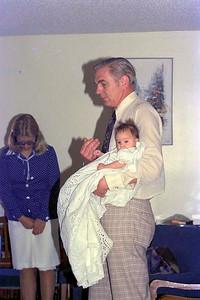 Ruth Hudson and Jim Smythe, her Godfather, Calgary : Sunday 24April 1977
