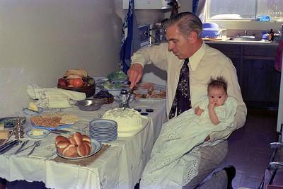 Ruth Hudson and Jim Smythe, her Godfather, Calgary : Sunday 24 April 1977