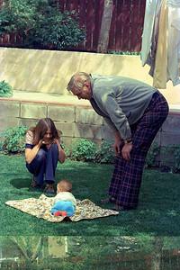 Hilary Smythe, Ruth Hudson and Jim Smythe, Calgary : summer 1977