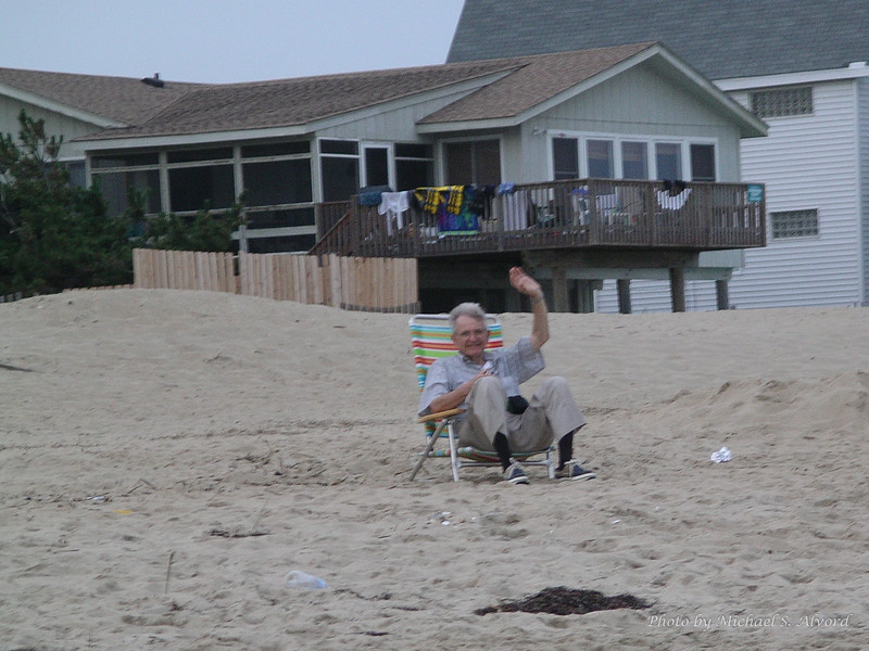 Grandpa taking a break.