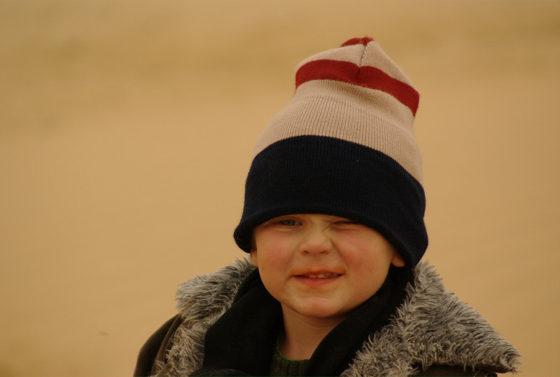 Jordan, in the really cold winds near the Saudi Arabian border, in the heart of winter.