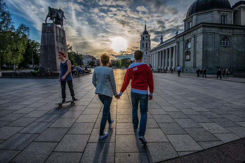 Josh & Julia Love Story. One year after marriage. Visiting Lithuania.
