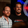 Joss Whedon and Zachary Levi at NerdHQ, San Diego Comic Con - July 14, 2012