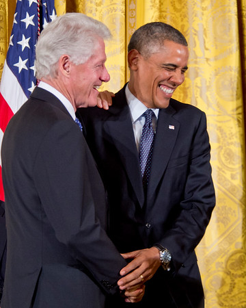 President Barack Obama awards the 2013 Presidential Medal of Freedom to