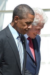 President Barack Obama and former President Bill Clinton mark the 20th anniversary of AmeriCorps.