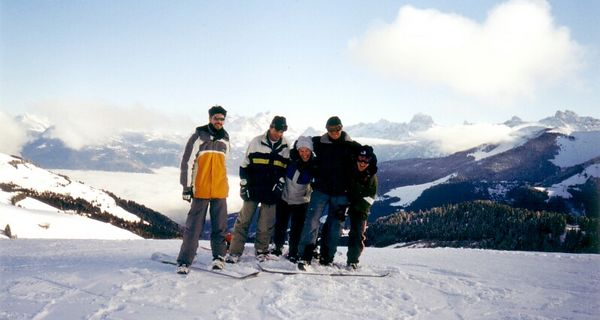 "Pim, Peter, Martin and I in <a href=""http://dreams.smugmug.com/gallery/1450"">Les Portes du Soleil</a>"