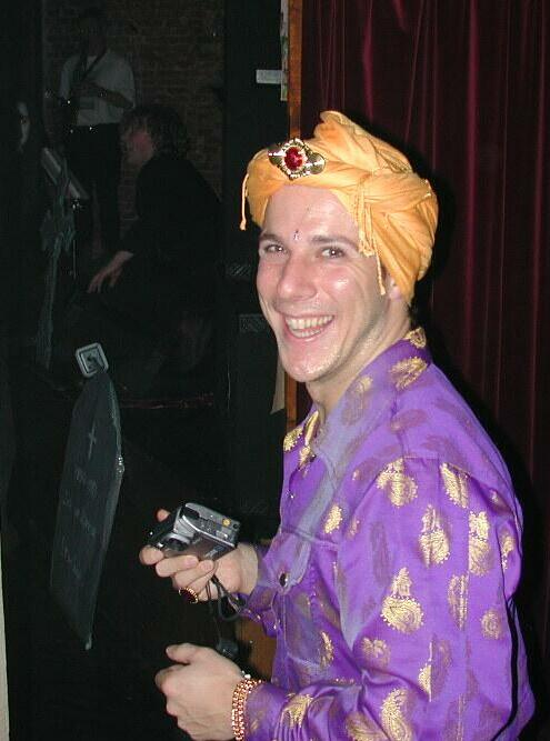 Dressed as an Persian Prince on KPN Research's Halloween party, Oct 2000