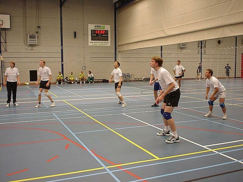 (Far right) That's me during a KPN Research  volleyball tournament organised by Apres, the personel club for all social activities.