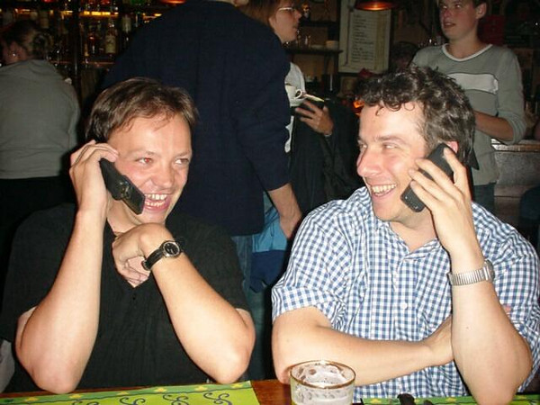 Jan Arend and me on the phone