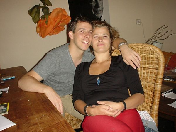 "<a href=""http://www.geocities.com/melanie1270/"">Melanie</a> and I (drunk) at her place, just before all 6 tequila shots hit me"