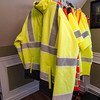 Justin Krook, president of Viz Reflectives of North America, talks about the photoluminescence reflective material he created for construction vests and jackets. SENTINEL & ENTERPRISE / Ashley Green