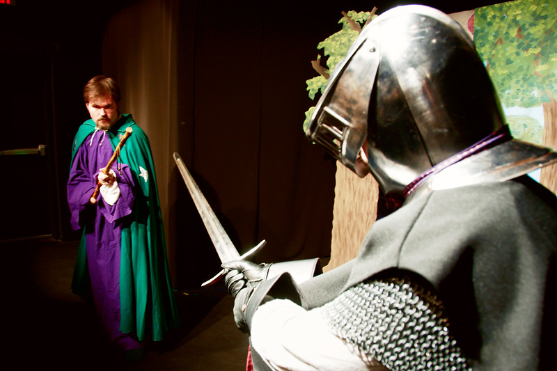 Bray's magician tutor Mentor confronts the Black Knight.<br /> Chris Klein, Will Russell