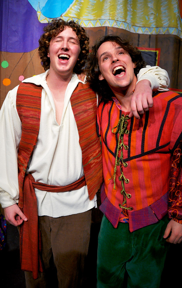 Aladdin & Wishy-Washy share a joyous moment.<br /> Spencer Padfield, Adam Cyr