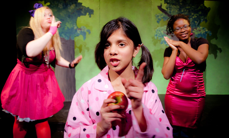 The sisters cackle and sing about their evil plan.<br /> <br /> Colleen Matthews, Charvi Shah, Keriece Harris.