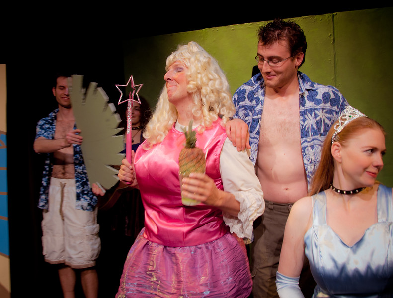 The Fairy God Mother decides to enchant herself an unending supply of pina coladas -- and cabana boys to bring them.<br /> <br /> Gilad Israeli, Carly Derdarian (obscured), Karl Zaryski, Brian Ellis, Lisa Hagen.