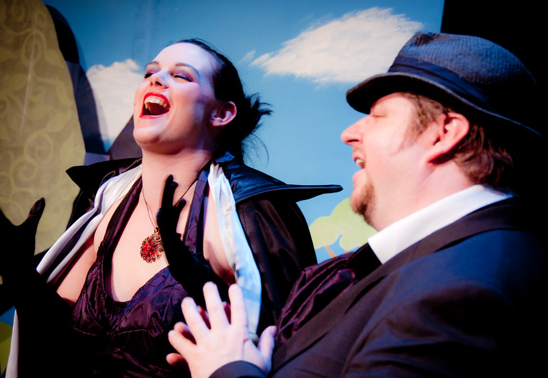 A Fairy Godfather!  The Evil Step-Mother and the Fairy Godfather laugh at their evil plans!<br /> <br /> Kate Leeming, Matthew Wiebe.