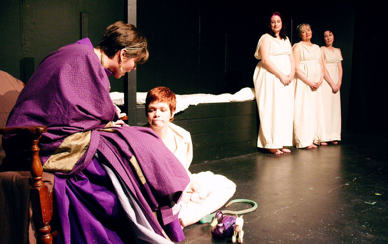 Young Telemachus does not prefer the company of his birth mother.