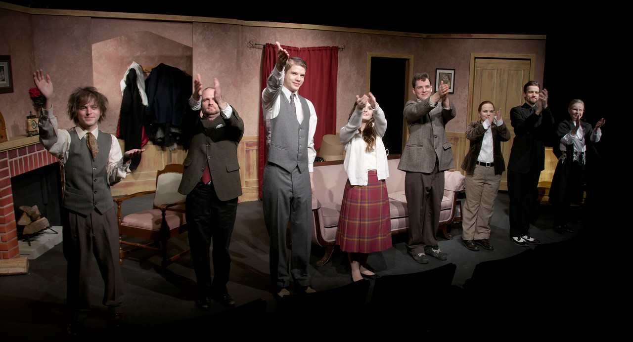 The cast takes a bow and acknowledges the booth.<br /> <br /> Josh Ezekiel, Tye Zinger, Liam Frape, Lindsay Palmateer, Adam Cyr, Carrie McNabb, Adam Sanderson, Sheena Gilks
