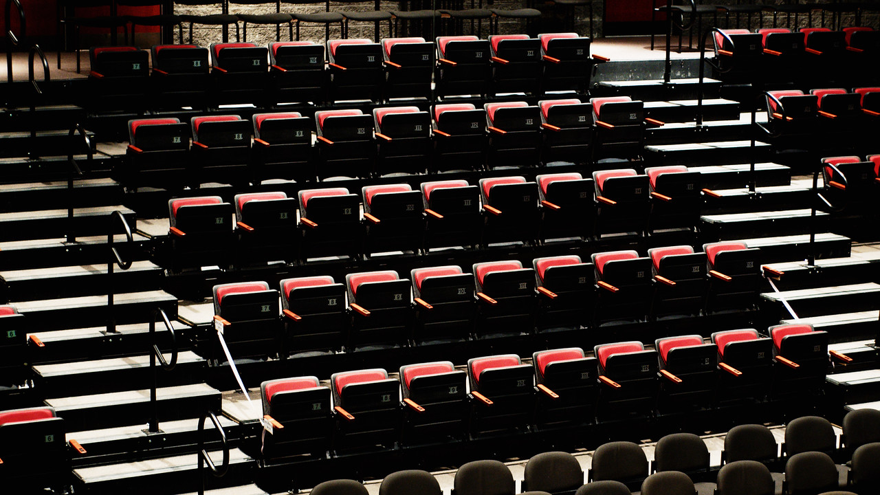 Some of the seating accommodations at the Conrad Centre for the Performing Arts.