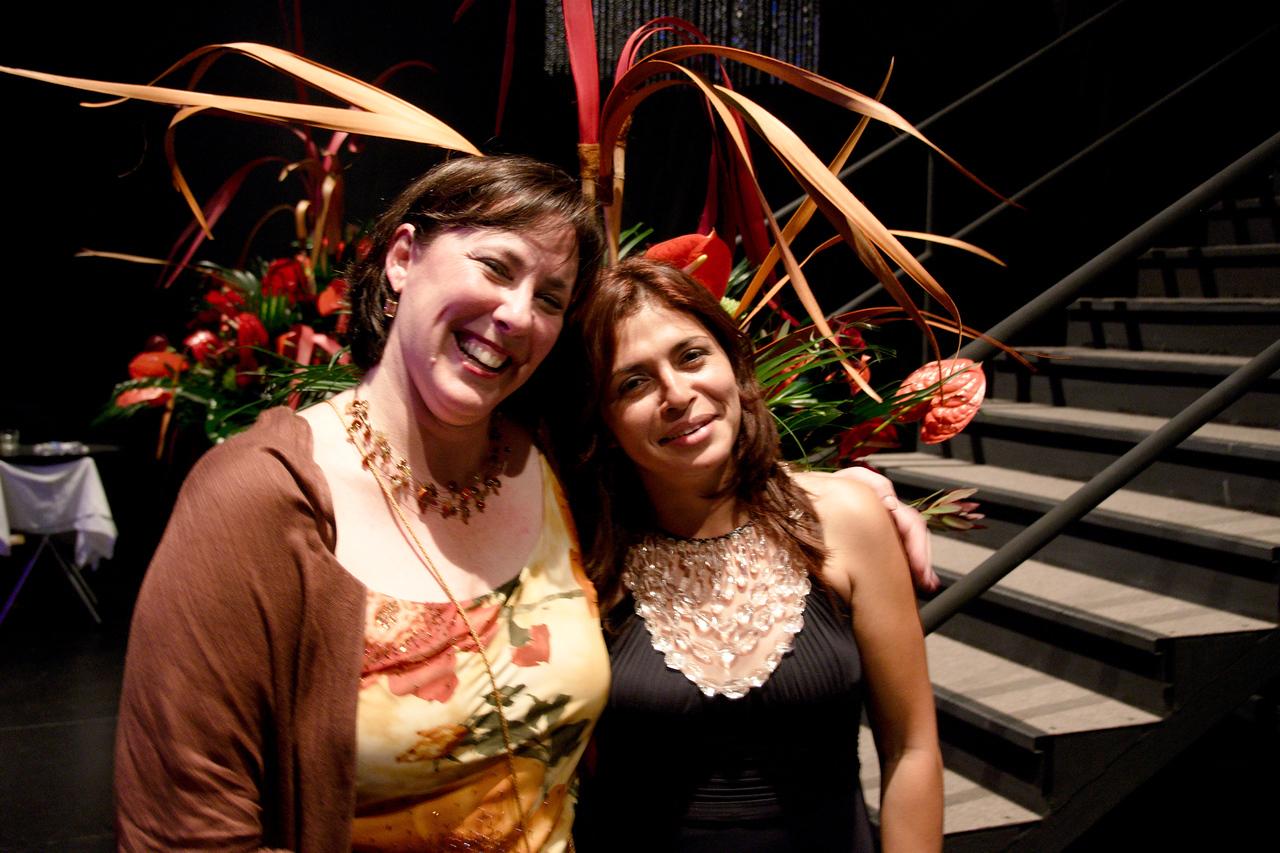 KWS development manager Sarah McPherson and development coordinator Sandra Villaraga -- gala event organisers.