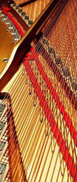 Yamaha piano, detail.
