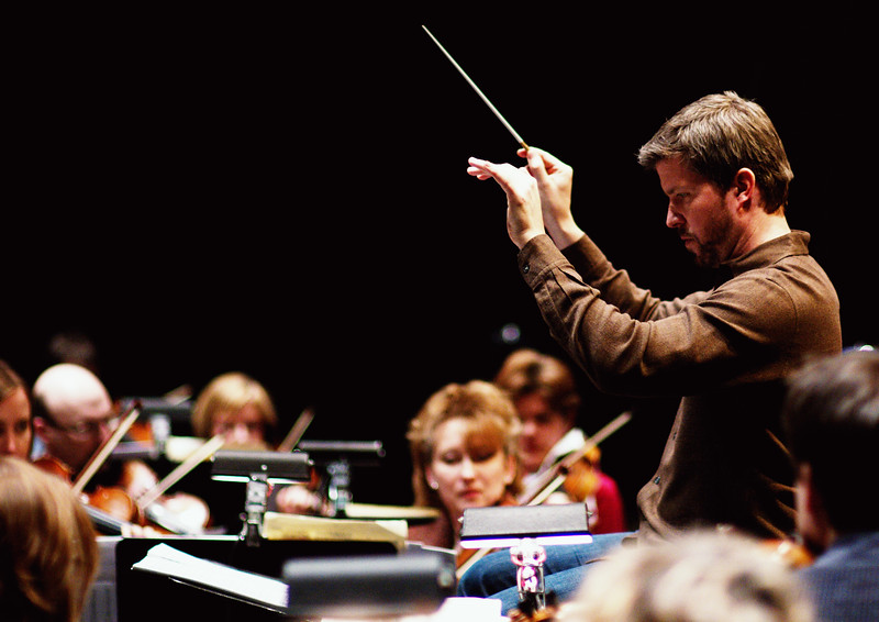 Edwin Outwater conducting.