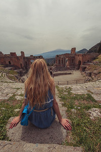 Kathie in Taormina