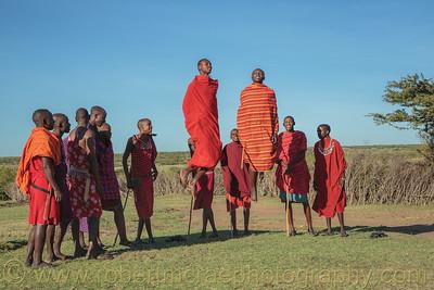 Young Maasai men.