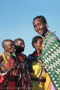Maasai women.