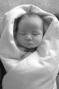 Our neice Madison when she was a few days old.