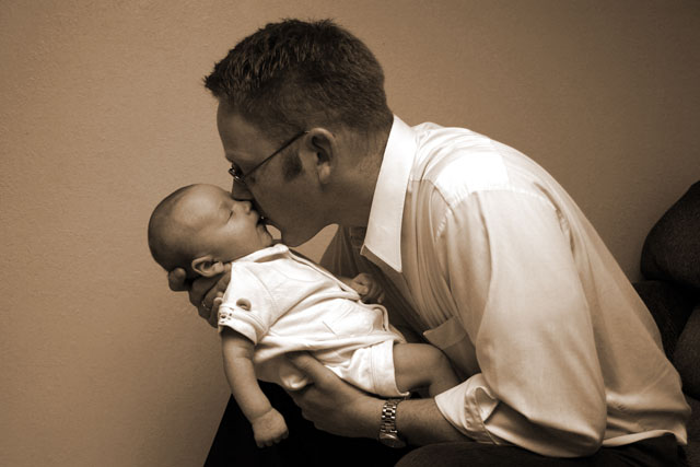 Brett Layton and his son Isaac.