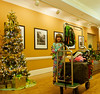 Cute smile with excellent fashion and color sense checking into the Savannah Hilton on December 28, 2013