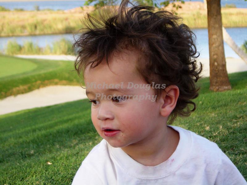 My grandson Carson at Lake Las Vegas, Nevada.