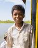 Young Cambodian boatman, Tonlé Sap Lake