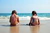 Rachel & Nicole by the sea (Mon 8/19/09)