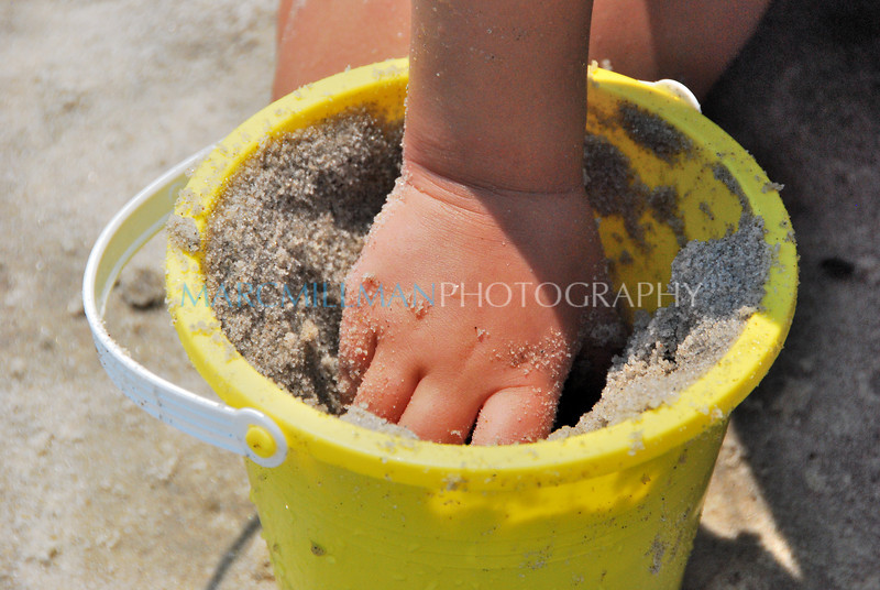 Hand in a bucket of sand (Mon 8/19/09)
