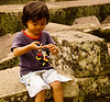 Disney fan at Angkor Thom, Angkor complex, Cambodia