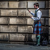 Edinburgh Piper Wired for Sound