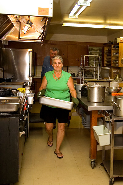 Pat Gogowich was in charge of the Ukrainian feast on Sunday.