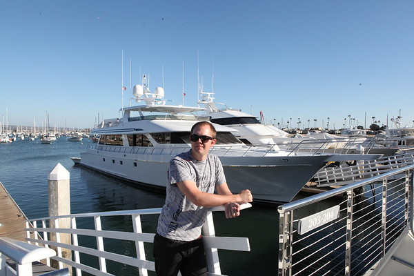 Kris Knudson with Yachts