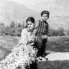 Kushal's mother and his older brother at age 2 (before Kushal was born).