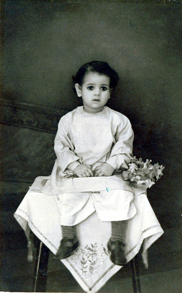 Kushal's mother at age 4.