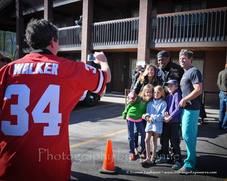 Herschel Walker was more than happy to sign autographs and pose for pictures. Best Western Plus Rio Grande, Durango CO 5/1/13